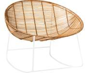 Fotel bujany  z rattanu z metalowym stelażem Orinoco