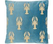 Haftowana poduszka z aksamitu z wypełnieniem Lobster
