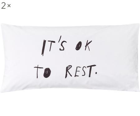 Poszewka na poduszkę z perkalu Rest od Kery Till, 2 szt.