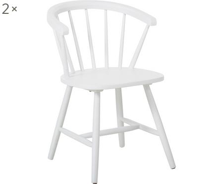 Krzesło Windsor z podłokietnikami z drewna Megan, 2 szt.