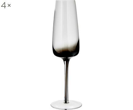 Kieliszek do szampana ze szkła dmuchanego Smoke, 4 szt.