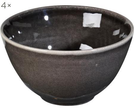 Ręcznie wykonana miska z kamionki Nordic Coal, 4 szt.