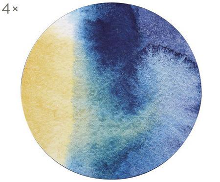 Okrągła podkładka z tworzywa sztucznego Inky, 4 szt.