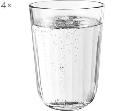 Szklanka termiczna do wody ze szkła hartowanego Facette, 4 szt.
