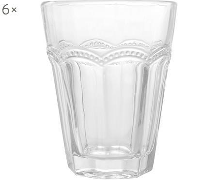 Szklanka do wody Floyd z verspieltem Relief, 6 szt.