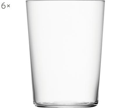 Szklanka do wody z cienkiego szkła Gio, 6 szt.