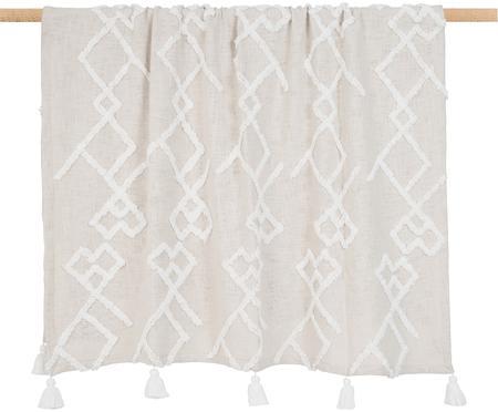 Koc  z bawełny z tuftowaną dekoracją Tikki