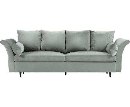 Sofa z aksamitu z funkcją spania i miejscem do przechowywania Lola (3-osobowa)