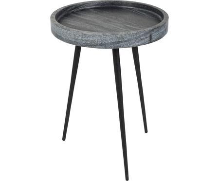 Okrągły stolik pomocniczy z marmuru Karrara