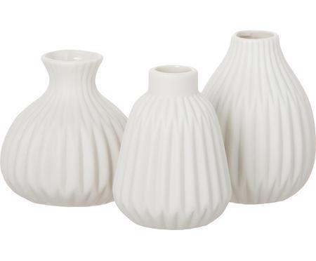 Komplet małych wazonów z porcelany Esko, 3 elem.