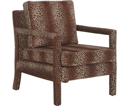 Fotel z aksamitu Claudette