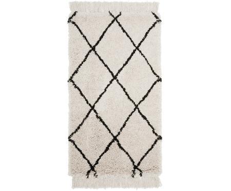 Puszysty ręcznie tuftowany dywan z frędzlami Naima