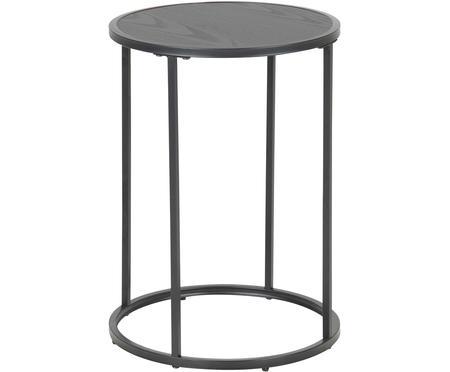 Okrągły stolik pomocniczy z drewna i metalu Seaford