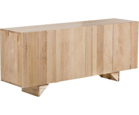 Komoda z litego drewna jesionowego z drzwiczkami Louis