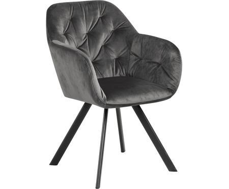 Krzesło obrotowy z aksamitu Lucie