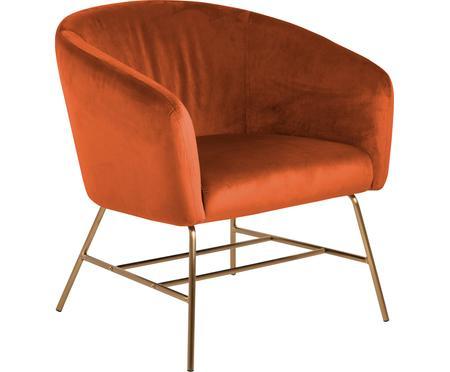 Fotel koktajlowy z aksamitu Ramsey