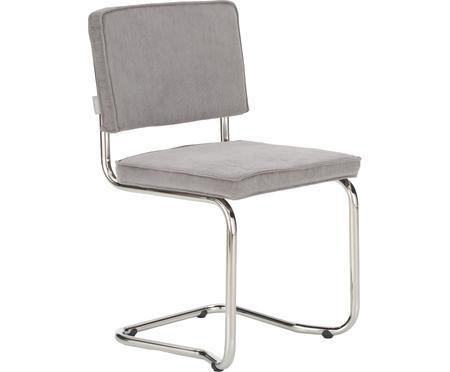 Krzesło podporowe z aksamitu sztruksowego Kink