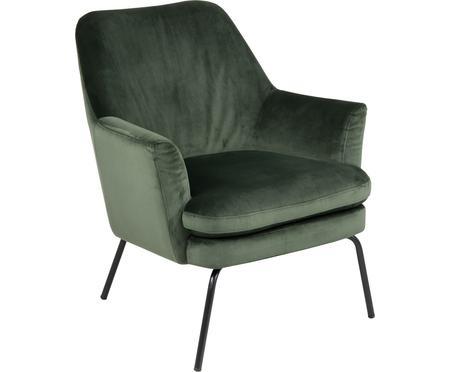 Fotel wypoczynkowy z aksamitu Chisa