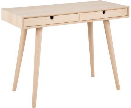Wąskie biurko z drewna dębowego Century