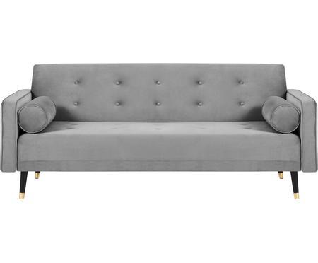 Sofa z aksamitu z funkcją spania Gia (3-osobowa)