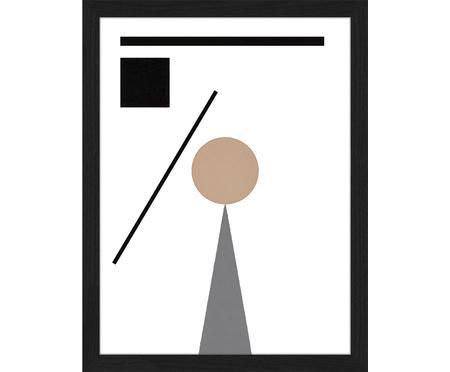 Oprawiony druk cyfrowy Abstract Minimalist