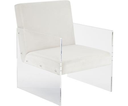 Fotel wypoczynkowy z aksamitu Ayden