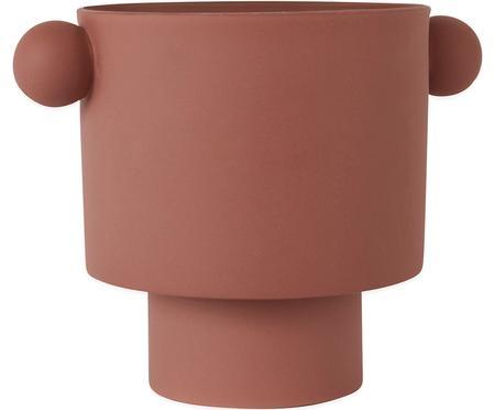 Duża ręcznie wykonana osłonka na doniczkę z ceramiki Ika