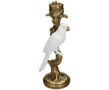 Świecznik Bird White