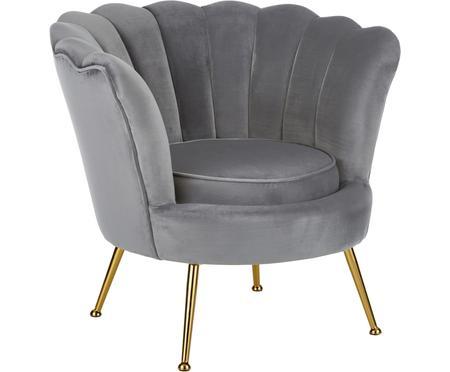 Fotel z aksamitu Oyster