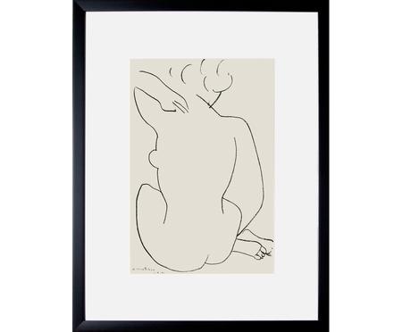 Oprawiony druk cyfrowy Matisse: Nu Accroupi