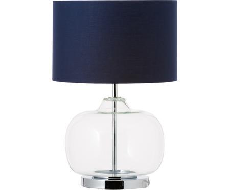 Lampa stołowa ze szkła i bawełny Amelia