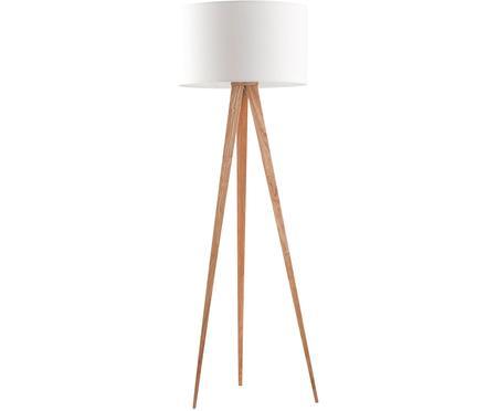 Lampa podłogowa z drewnianymi nogami Tripod