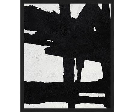 Oprawiony druk cyfrowy Abstract Black