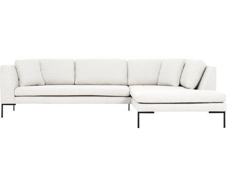 Sofa narożna z metalowymi nogami Emma