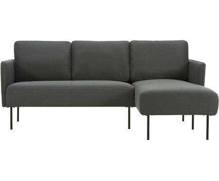 Sofa narożna z metalowymi nogami Ramira