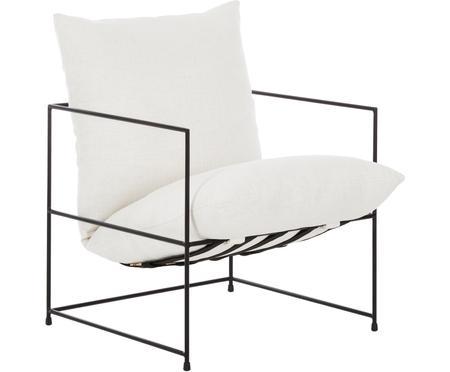 Fotel tapicerowany z metalowym stelażem Wayne