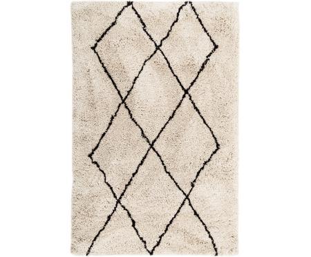 Puszysty ręcznie tuftowany z wysokim stosem dywan Nouria