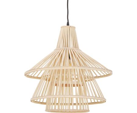 Lampa wisząca z drewna bambusowego Kamil