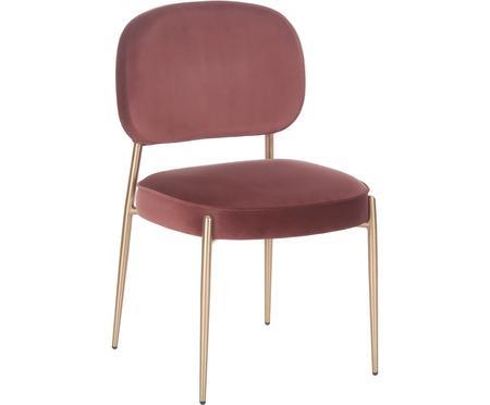 Krzesło tapicerowane z aksamitu Viggo