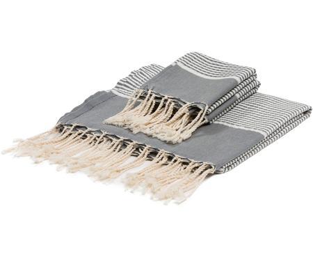 Komplet ręczników z wykończeniem z lurexu  Copenhague, 3 elem.