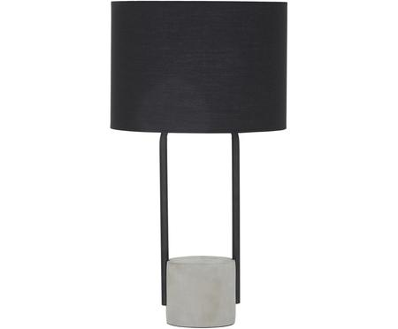 Lampa stołowa z betonową podstawą Pipero