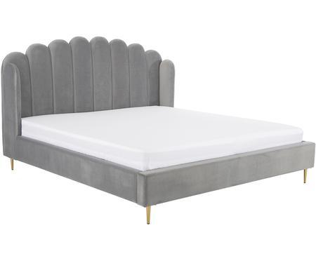 Łóżko tapicerowane z aksamitu Glamour