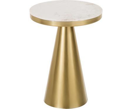Okrągły stolik pomocniczy z marmuru Zelda