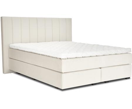 Łóżko kontynentalne premium z aksamitu Lacey