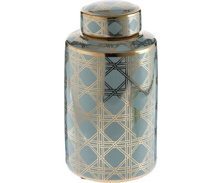 Duży wazon z porcelany z pokrywką Egypt