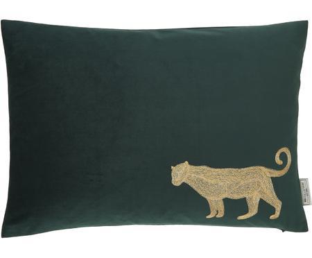 Haftowana poduszka z aksamitu  z wypełnieniem Single Leopard