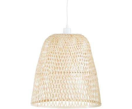 Ręcznie wykonana lampa wisząca z drewna bambusowego Eve