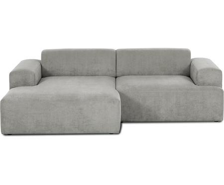 Sofa narożna ze sztruksu Melva (3-osobowa)