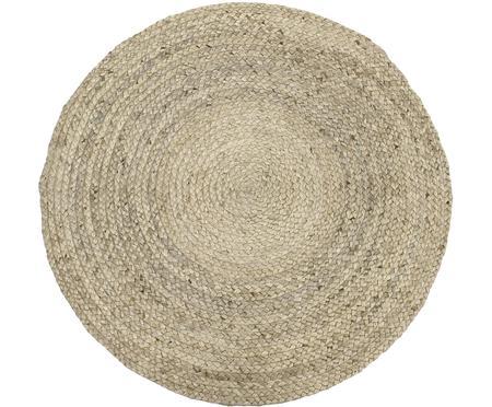 Okrągły ręcznie tkany dywan z juty Sharmila