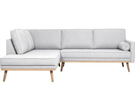 Sofa narożna z nogami z drewna dębowego Saint (3-osobowa)